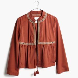 Madewell Embroidered Peplum Jacket